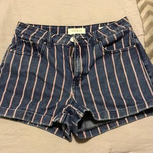 Special edition striped shorts
